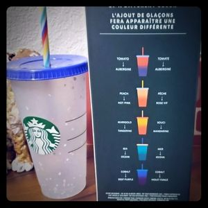 Starbucks Color Changing cups plus 1 confetti cup